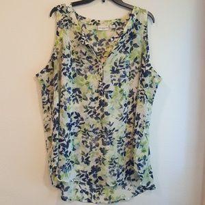 Liz Claiborne sleeveless blouse 2X - green